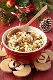 Pot with kutia – traditional Christmas sweet meal Stock Image