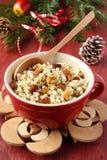 Pot with kutia – traditional Christmas sweet meal Stock Image