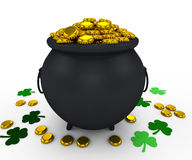 Pot leprechaun on St. Patrick's Day Stock Photography
