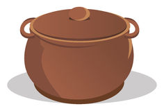 Pot with lid. Cartoon illustration of a pot with lid Royalty Free Stock Images