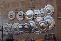 Pot lids Royalty Free Stock Image