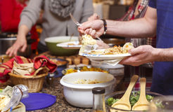 Pot Luck Dinner Royalty Free Stock Photography