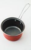 Pot métallique rouge Images stock