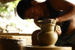 Pot Maker Stock Photography