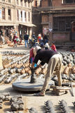 Pot Maker, Bhaktapur, Nepal Royalty Free Stock Images