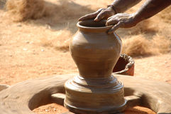 Pot Making Royalty Free Stock Photos