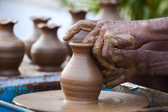 Pot Making Stock Images
