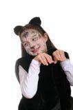 Pot. Meisje in een kattenkostuum Stock Afbeeldingen