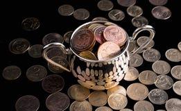 Pot met geld Stock Afbeelding