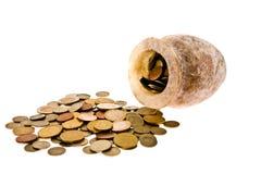 Pot met geld Stock Foto