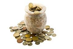 Pot met geld Stock Fotografie