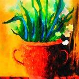 Pot met Witte lelies Royalty-vrije Stock Afbeelding