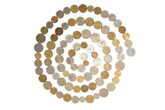 Pot of money Royalty Free Stock Images