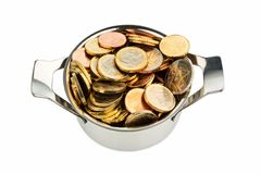 Pot of money Royalty Free Stock Photo