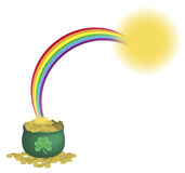 Pot Of Gold Rainbow 2 Stock Photo