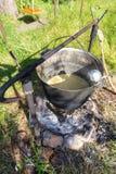 Pot op de steenkool Royalty-vrije Stock Foto