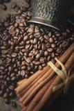 Pot oriental de café de vintage Photographie stock
