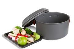 Pot outdoor camping cooking Stock Photos
