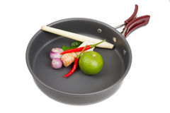 Pot outdoor camping cooking Stock Photo