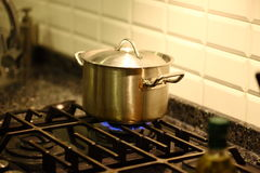 Pot on the oven Stock Image
