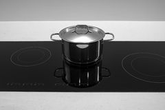 Pot Pan on induction Stock Photography