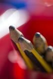 Pot of Pencils Stock Photo