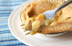 Pot Pie Stock Photo
