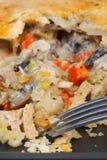 Pot-Pie del pollo Imagen de archivo