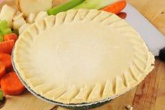 Pot pie ready to bake Stock Photos