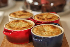 Pot pies. Delicious pot pies prepared for a caf Stock Photography