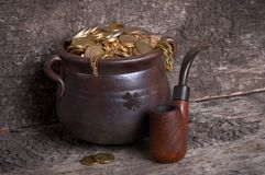 Pot and pipe Stock Image