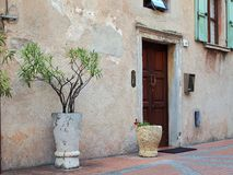 Pot Plants, Sermione, Italy Royalty Free Stock Image