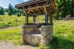 Pot of polenta. Mountain symbol and South Tyrolean tradition. South Tyrol, Trentino Alto Adige, Bolzano, Italy. Pot of polenta. Mountain symbol and South stock photos