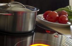 POT, pomodori ed insalata Immagini Stock