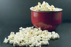 Pot of popcorn Stock Photo