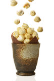 Pot Of Popcorn Stock Photography