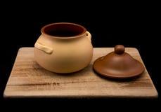 A pot for porridge. Royalty Free Stock Photos