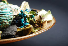 Pot Pourri. Beautiful Pot Pourri in front of a dark background stock photography