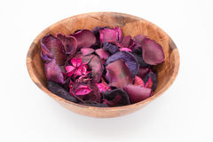 Pot Pourri in a bowl isolated Royalty Free Stock Image