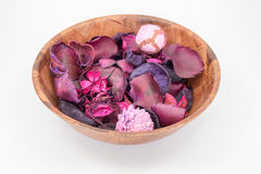 Pot Pourri in a bowl isolated Stock Photos