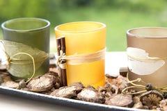 Pot pourri candle holder Stock Images