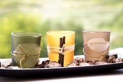 Pot pourri candle holder Stock Photos