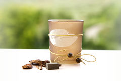 Pot pourri candle holder Royalty Free Stock Photography