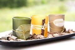 Pot pourri candle holder Royalty Free Stock Image