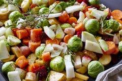Pot-pourri de plan rapproché organique de légumes Photographie stock libre de droits