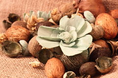 Pot pourri hessian Stock Image
