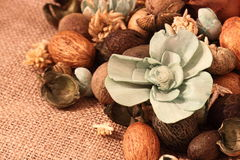 Pot pourri hessian Stock Photos