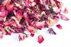 Pot-pourri sec de pétale de rose Photographie stock libre de droits