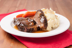 pot roast with mashed potatoes Royalty Free Stock Images
