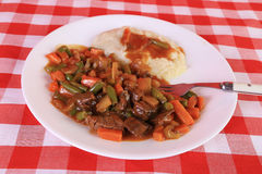 Pot Roast with Mashed Potatoes and Gravy Royalty Free Stock Images